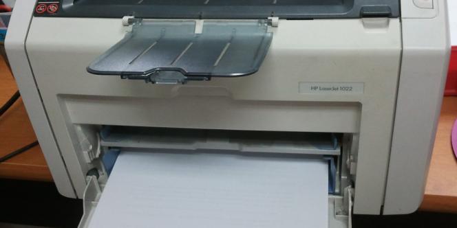 Une imprimante Hewlett-Packard.