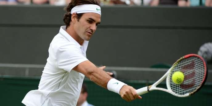 Roger Federer, le 25 juin à Wimbledon.