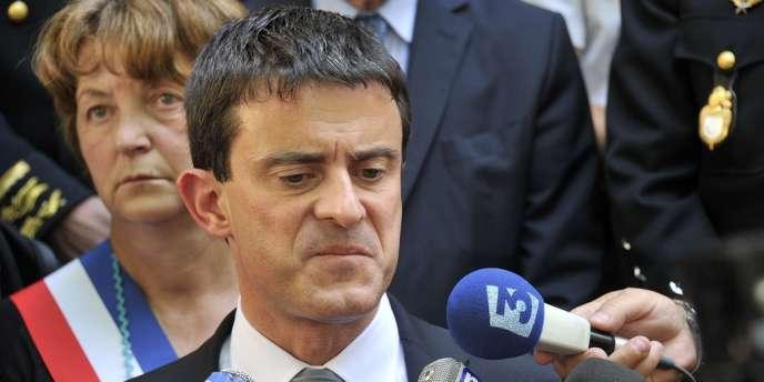 Manuel Valls, ministre de l'intérieur, le 18 juin 2012.