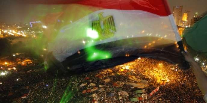 Place Tahrir le soir de l'élection de Mohamed Morsi, dimanche 24 juin.