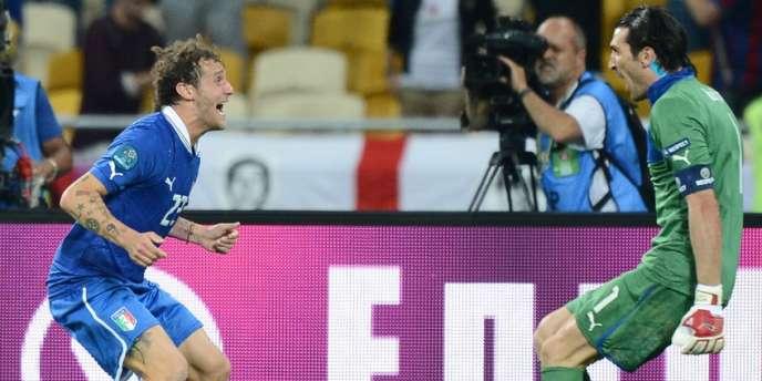 Diamanti et Buffon, quelques secondes après la victoire.