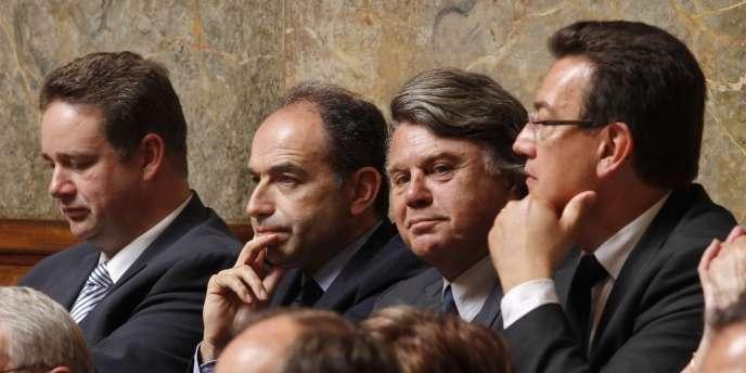 Jean-François Copé et Gilbert Collard, lors de la séance inaugurale à l'Assemblée nationale, le 26 juin.