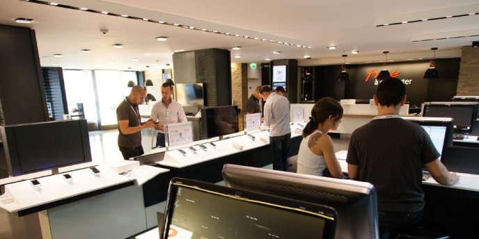 La boutique de Free à Paris, dans le 8e arrondissement.