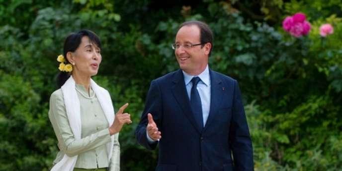 François Hollande a reçu Aung San Suu Kyi à Paris, mardi 26 juin.