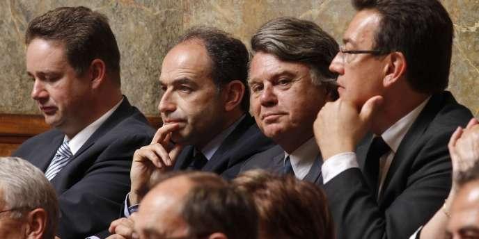 Jean-François Copé à côté de Gilbert Collard, mardi 26 juin à l'Assemblée nationale.