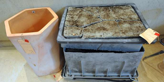 Photo du container dans lequel Eric et Virginie Sabatier ont enseveli dans le béton le corps de leur fille Marina.