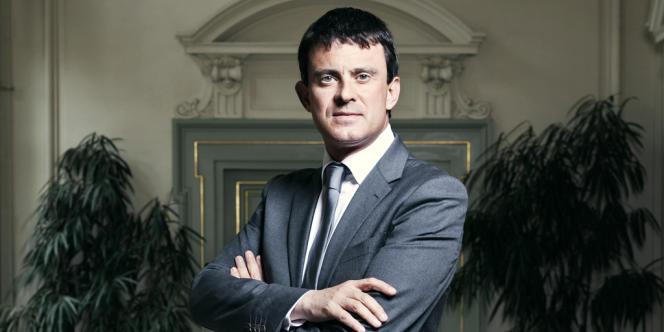 Manuel Valls, ministre de l'Intérieur, Place Beauvau, le 26 juin 2012.