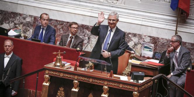 Claude Bartolone est elu president de l'Assemblee Nationale lors de la rentree parlementaire de la 14ème legislature de la Vème Republique, a l'Assemblee Nationale, Paris, le mardi 26 juin 2012