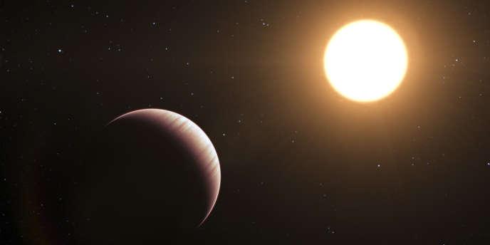 L'exoplanète Tau Boötis b, découverte en 1996 dans la constellation du Bouvier.