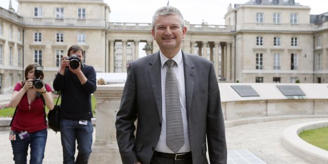 Le député de Charente-Maritime Olivier Falorni à son arrivée à l'Assemblée, mardi 19 juin.