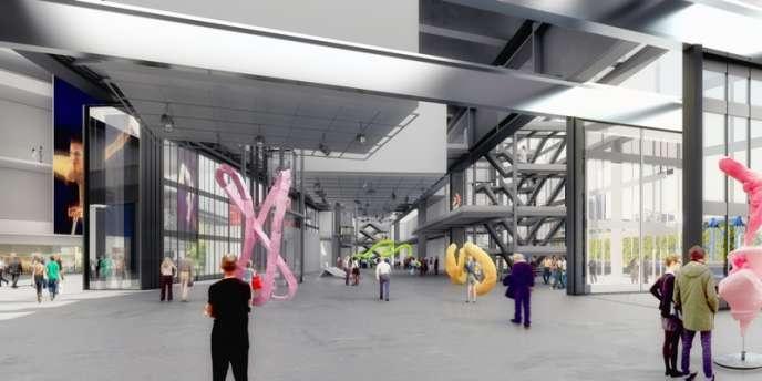 Le projet R4, pôle d'art contemporain bâti par Jean Nouvel à la pointe est de l'île Seguin, est prévu pour 2016.
