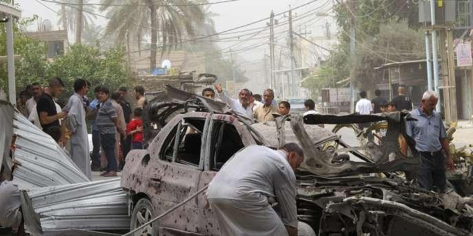 Attentat en Irak, dans la ville de Taji, au nord de Baghdad, le 28 juin.