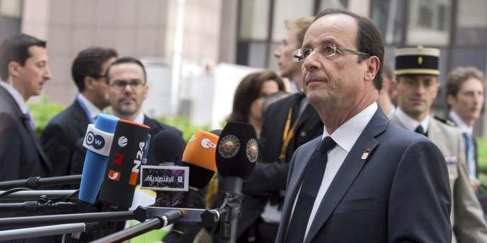 François Hollande, à son arrivée au Conseil européen, vendredi 29 juin.