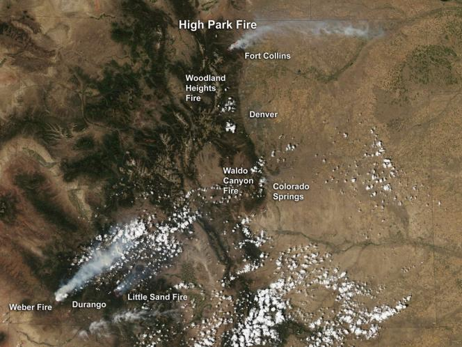 Les vents ont faibli jeudi dans le Colorado, ce qui a donné du répit aux pompiers qui ont pu lutter plus efficacement contre le feu de forêt faisant rage depuis six jours en lisière de la deuxième ville de l'Etat, Colorado Springs.