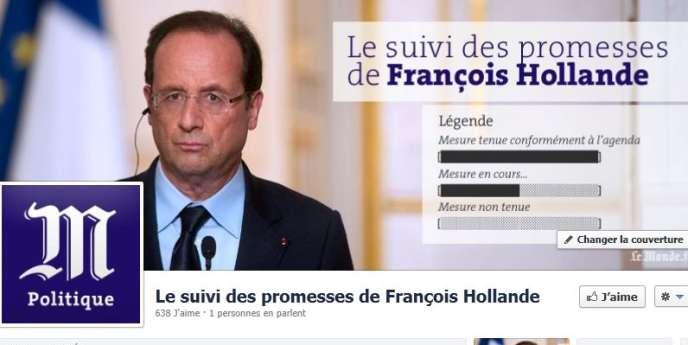 Suivi des promesses de Hollande sur Facebook
