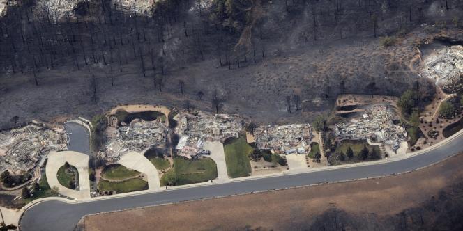 Vue d'une zone résidentielle à Waldo Canyon, le 28 juin 2012.