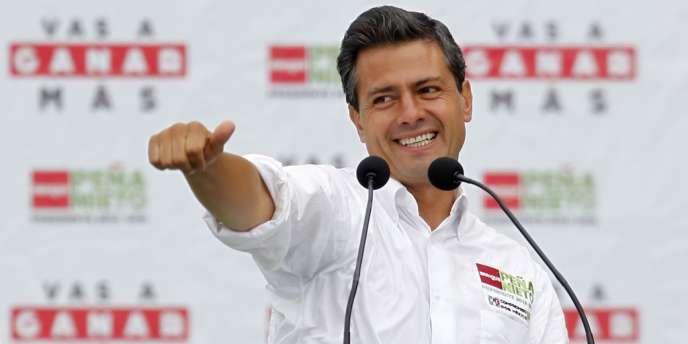 Enrique Pena Nieto, le candidat du PRI à l'élection présidentielle mexicaine, est le favori des sondages.