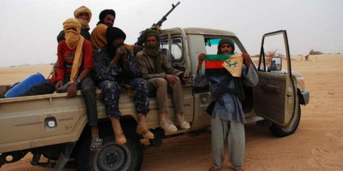 Des combattants du Mouvement national de libération de l'Azawad.