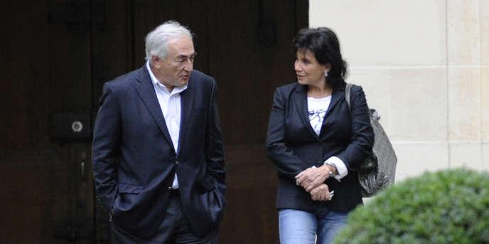 Dominique Strauss-Kahn et Anne Sinclair, le 4 septembre 2011 à Paris.