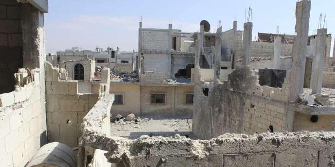 Vue des dégâts à Baba Amro, le 28 juin 2012.