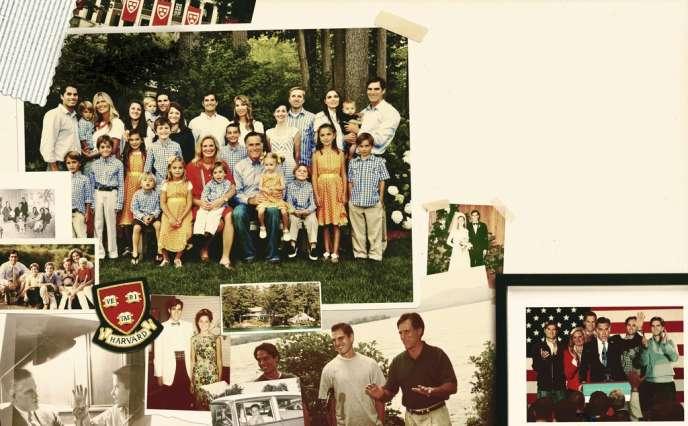 Dans cet album de famille, les photos de groupe se mêlent aux photos de mariage, souvenirs de vacances ou de campagne électorale. A ce jour, la tribu compte, outre les parents, cinq fils, et leurs femmes, et dix-huit petits-enfants.