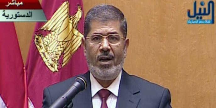 Mohamed Morsi prêtant serment, le 30 juin 2012.