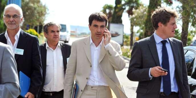 Olivier Ferrand, le 5 juin 2012, sur le site d'Eurocopter, à Marignane.