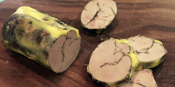 Un foie gras au cacao produit en France.