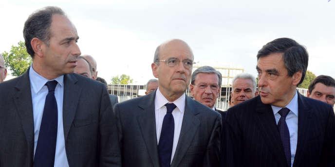 De gauche à droite : Jean-François Copé, Alain Juppé et François Fillon.
