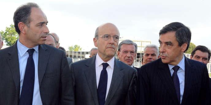 MM. Copé, Fillon, Juppé à Bordeaux, le 3 mai.