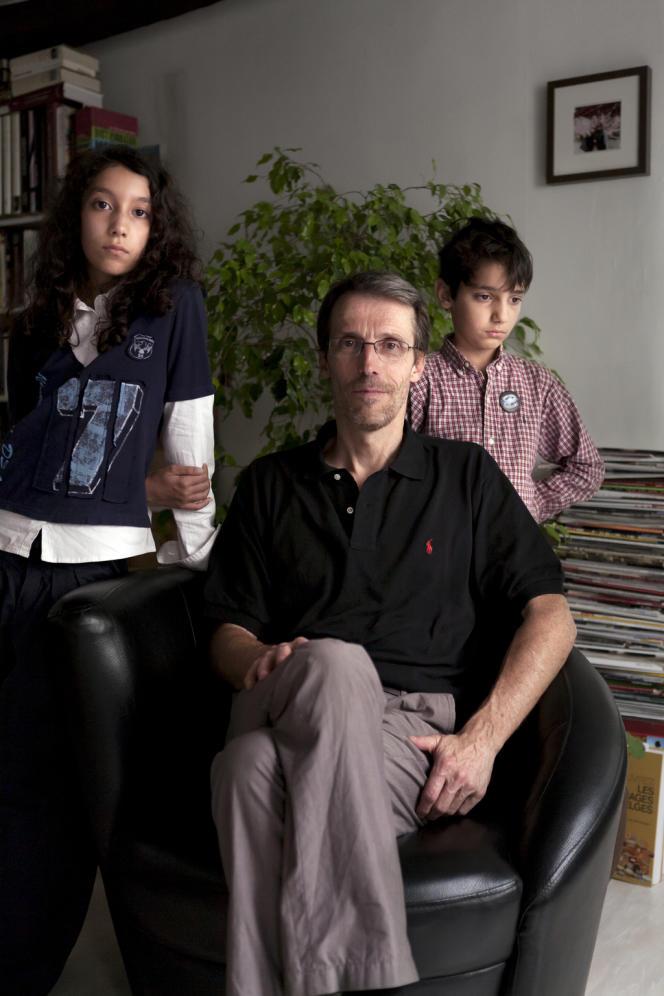 Dany Laurent et ses deux enfants, Diane et Etienne.