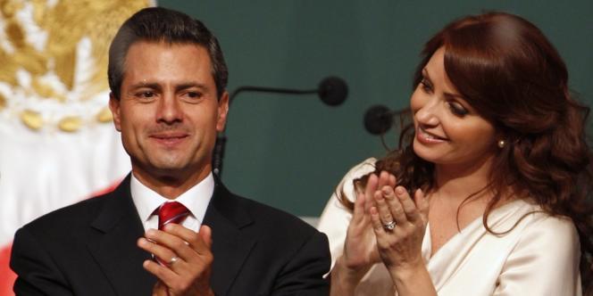Enrique Pena Nieto, du Parti révolutionnaire institutionnel, vainqueur des élections aux Mexique, 1er juillet.