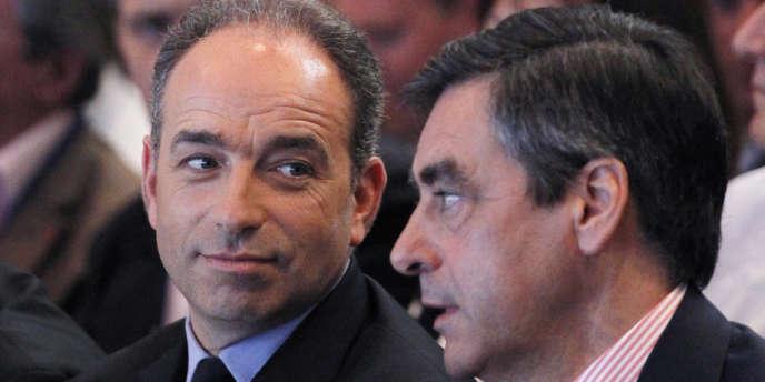 Jean-Francois Copé et Francois Fillon, à Paris, le 26 mai.