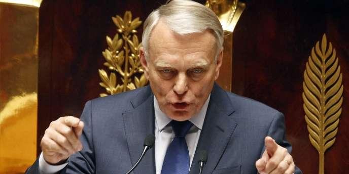 Jean-Marc Ayrault lors de son discours de politique générale, mardi 3 juillet à l'Assemblée nationale.