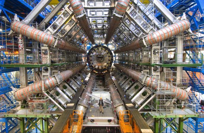 Le détecteur Atlas, l'un des outils de recherche du boson de Higgs, près de Genève.