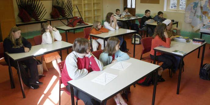 Une classe de 6e comme celle suivie par l'Insee dans le cadre de son étude sur le décrochage scolaire.