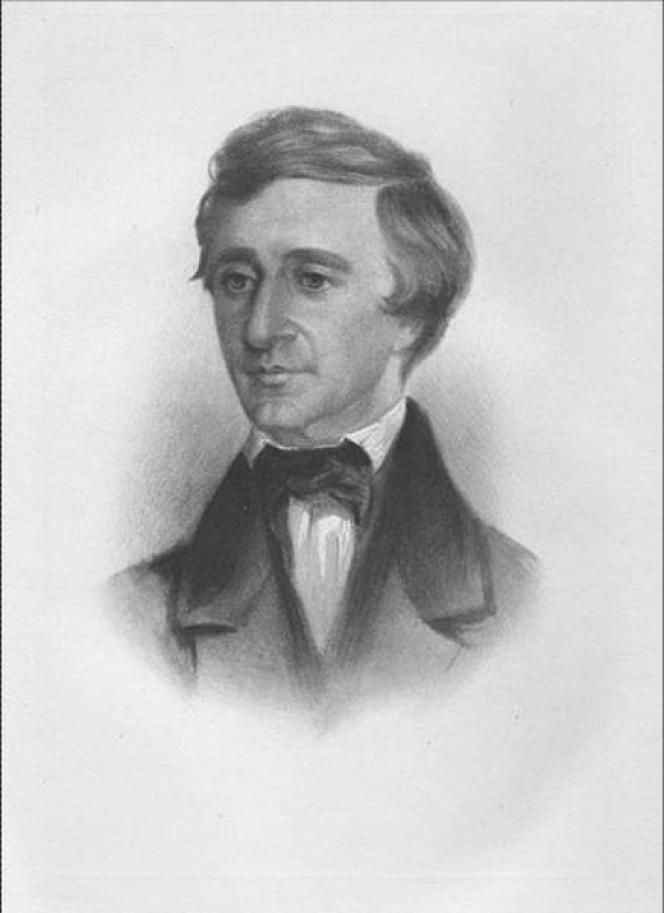 Henry David Thoreau, vers 1840.