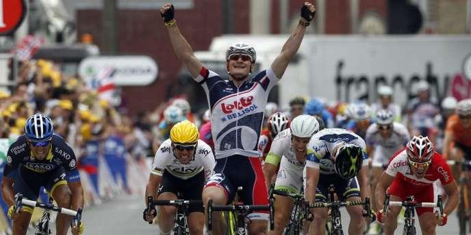 Andre Greipel victorieux au sprint à Rouen.