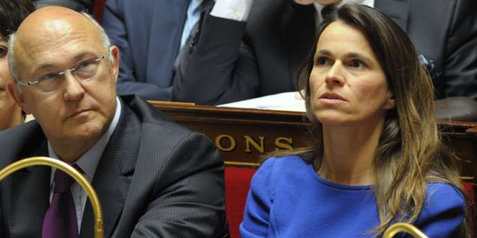 Michel Sapin et Aurélie Filippetti lors du discours de politique générale de M. Ayrault, le 3 juillet.