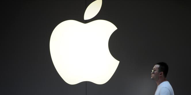 Le logo du groupe d'informatique Apple.