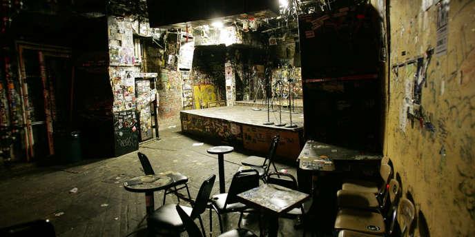 La scène du club punk mythique de New York, en 2005.