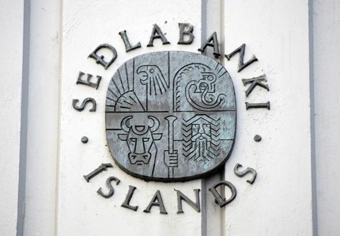 Façade de la banque centrale islandaise, en octobre 2008.