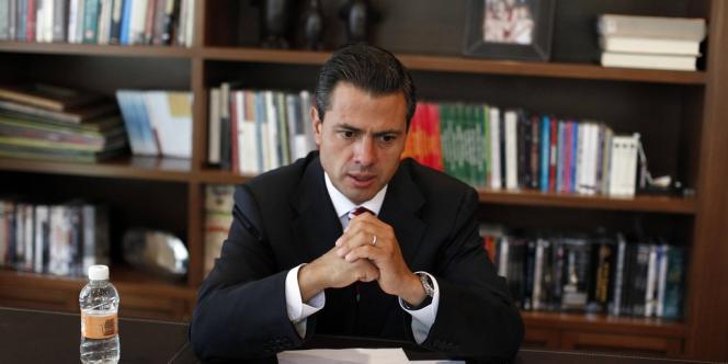 Le nouveau président mexicain, Enrique Peña Nieto, à Mexico, lundi 2 juillet.