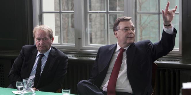 L'ancien premier ministre islandais, Geir Haarde, pendant son procès.