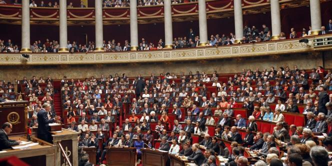 Le premier ministre, Jean-Marc Ayrault, lors de son discours de politique générale à l'Assemblée nationale, le 3 juillet 2012.