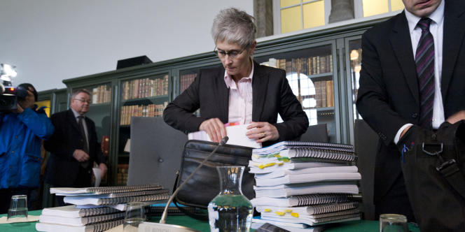 Sigridur Fridjonsdottir, procureur lors du procès de Geir Haarde.