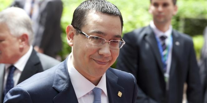 Le premier ministre roumain Victor Ponta, à son arrivée au sommet européen de Bruxelles, le 28 juin.