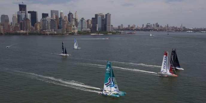 La flotte des MOD70 réunie à New York.