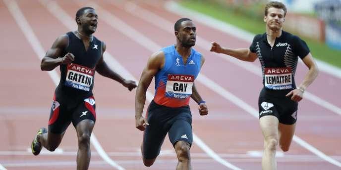 Christophe Lemaitre a bouclé un 100 m solide, à la troisième place (10 s 08), derrière les Américains Tyson Gay (9 s 99) et Justin Gatlin (10 s 03).