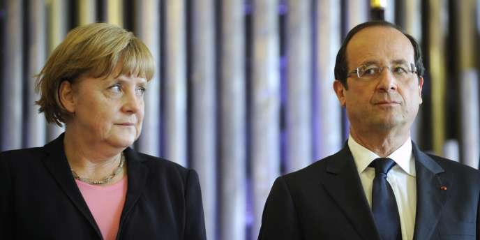 François Hollande et Angela Merkel à Reims, le 8 juillet.